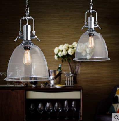 60W Modern Pendant Light Fixtures Handing Lamp With Glass Lampshade For Dinning Room In Edison Bulbs Pendente De Teto Luz