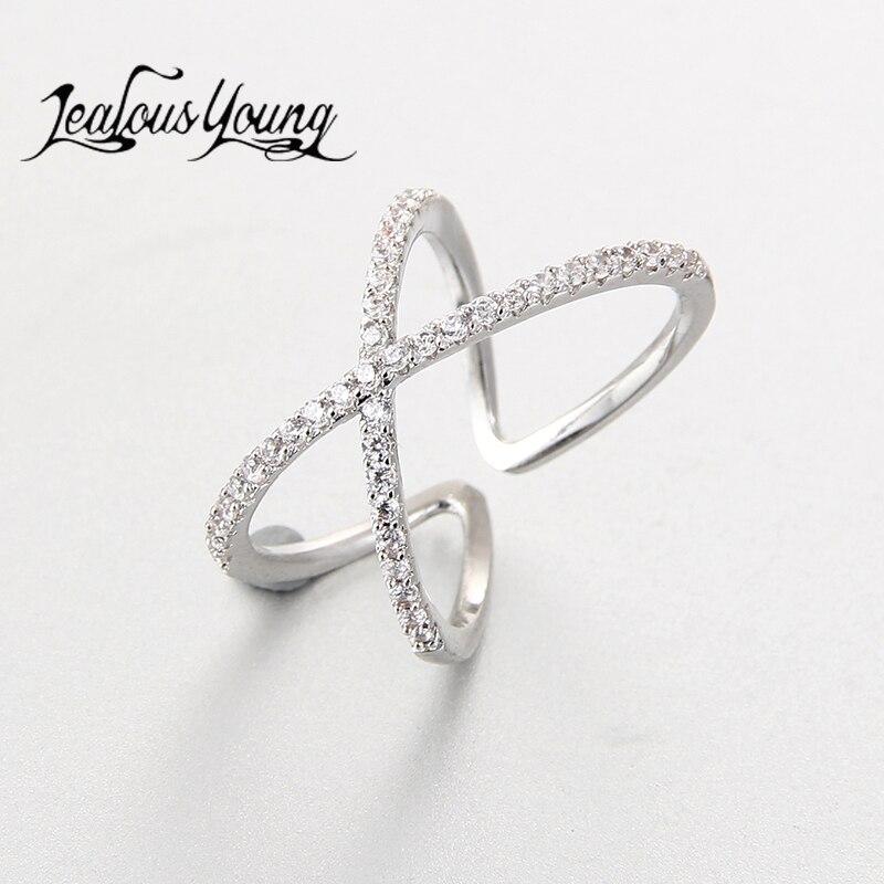 Klassische Zwei Linie Zirkonia Verlobungs Manschette Ring Für Frauen Partei White Gold Farbe Exquisite Einstellbaren Ringe Schmuck Ar127 Warm Und Winddicht Verlobungsringe