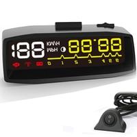 2018 New Car HUD Head up Display OBD II EOBD Auto Digital Car Speedometer KM/h MPH For Audi a6 c6 Toyota Ford