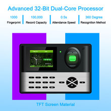 Biometric Fingerprint Time Attendance Access Control System TCP/IP USB Fingerprint Reader Time Clock Recorder Employees Device все цены