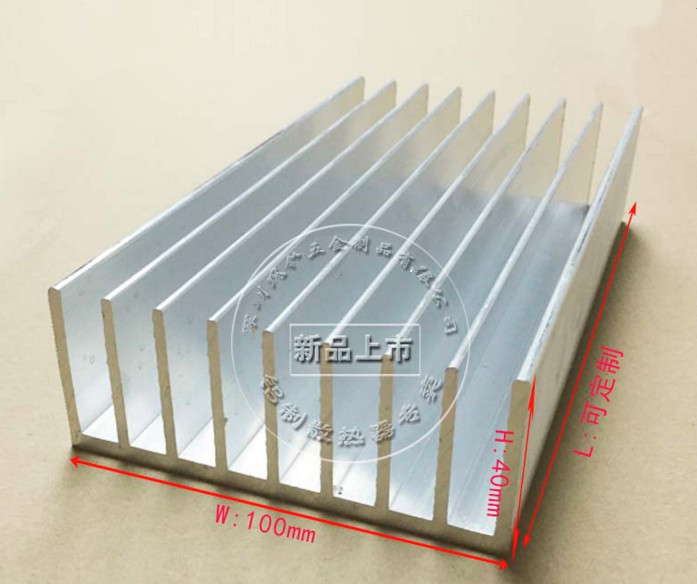 Free Ship Custom High-quality high-power aluminum radiator heater 100*40*200mm Power Amplifier Circuit Board HeatSink profiles free ship thick type lm1875 lm4766 tda2030 dedicated radiator 108 45 41mm power amplifier chip heatsink