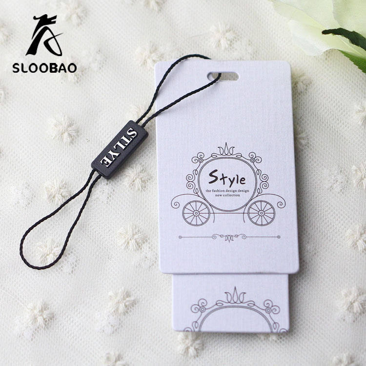 1000 x White Strung 21 x 13 mm Price Tags Jewellery String Swing Labels Tag