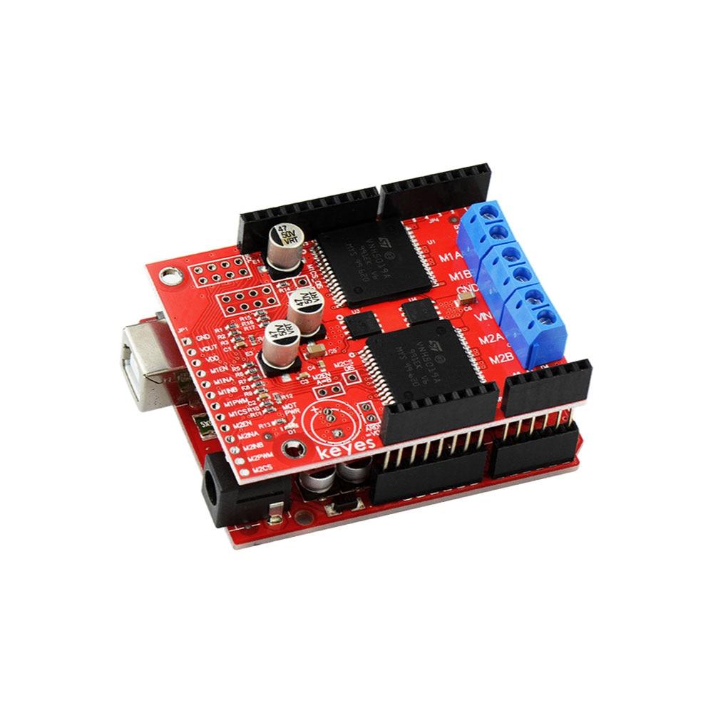 Image 5 - KEYES двойной высокий двигатель постоянного тока драйвер щит VNH5019 совместим с ARDUINO (Защита окружающей среды)-in Доски для показов from Компьютер и офис