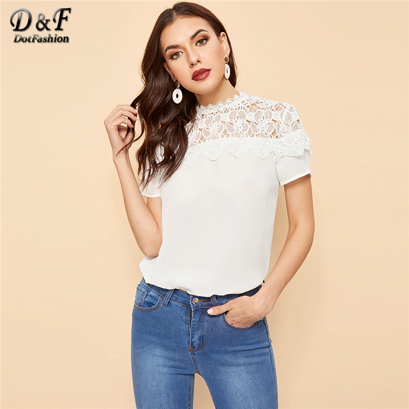 Women's Clothing Dotfashion Butterfly Sleeve Ruched Mock Neck And Keyhole Back Top 2019 Summer Pink Stand Collar Cap Sleeve Ladies Casual Blouse