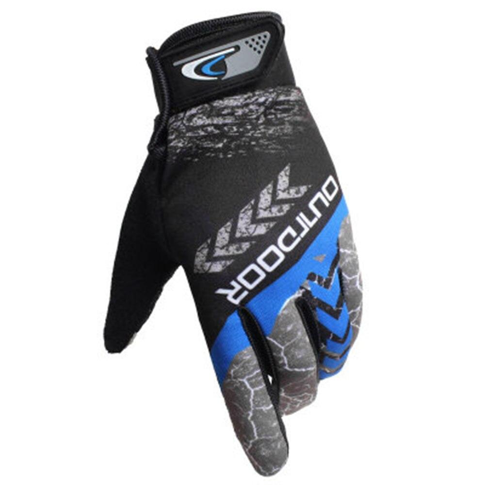 Vehemo, дышащие, 1 пара, перчатки для верховой езды, мотоциклетные перчатки для езды на велосипеде, прочные, уличные, перчатки со стрелками, перчатки на полный палец, перчатки для движения - Цвет: blue