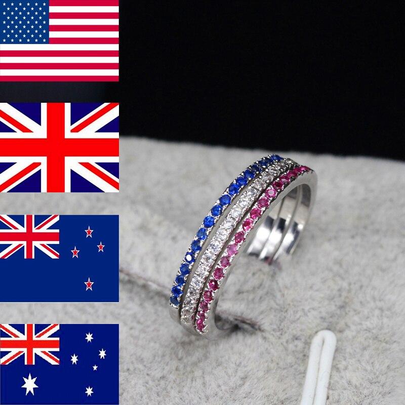 CWWZircons blagovna znamka moda 3 kos Engegament poročni prstan set - Modni nakit - Fotografija 2