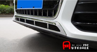 For Audi Q5 2013 2015 ABS Chrome Front Bumper Lower Center Grille Grill Cover Trim
