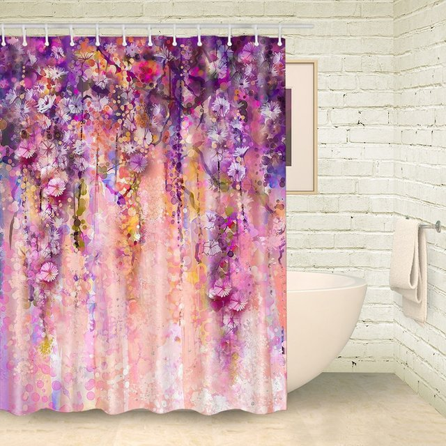 Panache Floral Shower Curtain Colorful Flower Shower
