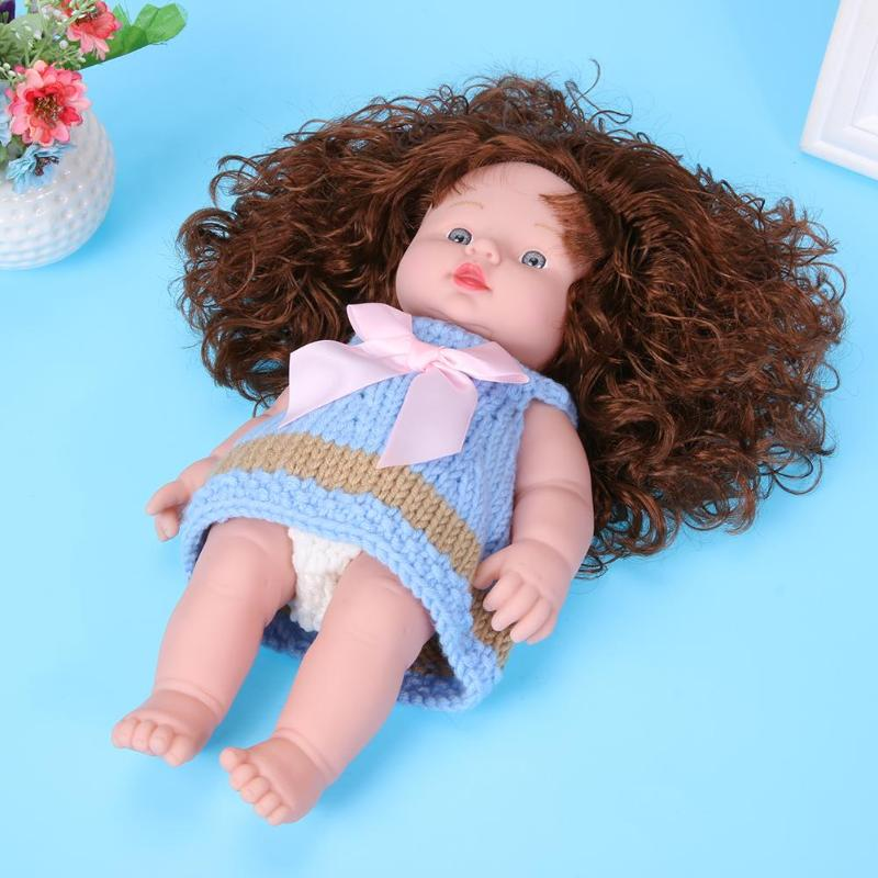 50cm/19.69 Soft Vinyl Plastic Lifelike Simulation Reborn Baby Dolls Kids Toy Gift Realistic Toddler Dolls Boneca Toys for Girls