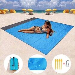 Wodoodporny worek mata plażowa składana mata kempingowa przenośna lekka mata mata piknikowa piasek koc plażowy nowość w Maty kempingowe od Sport i rozrywka na