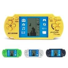 Clásico electrónico LCD Tetris juego Vintage ladrillo de mano Arcade rompecabezas juguetes Dispositivo de juego para Juegos PSP