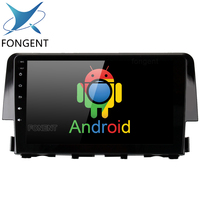 Fongent for Honda Civic 2015 2016 Android Car GPS Radio Multimedia Video Player with Octa Core 4GB+32GB 9 IPS Head Unit DVR OBD