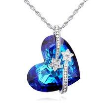 Модные Кристаллы от swarovski сердце воротник ожерелья подарки