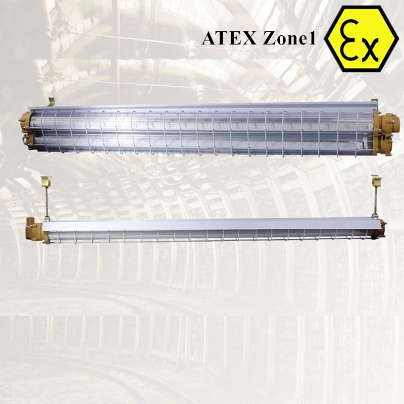 ATEX Explosion Proof Linear Led Highbay Light AC110v 220v 50/60hz Input Zone 1 Hazardous Lighting LED Tube Fixtures