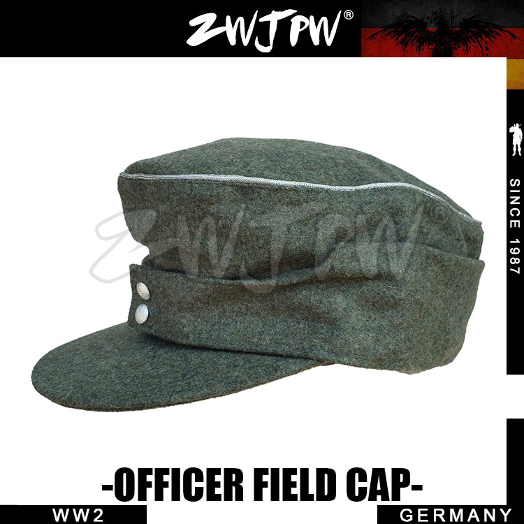 GERMAN ARMY ELITE TYPE 1943 BLACK & GREEN WOOLEN CLOTH SOLDIER FIELD OFFICER CAP HAT DE/401105