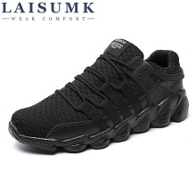 2019 LAISUMK Hot Sale Summer New Brand Male Shoes Laces Men Shoes Fashion Casual Shoes For Men Breathable Cheap Shoes цены онлайн