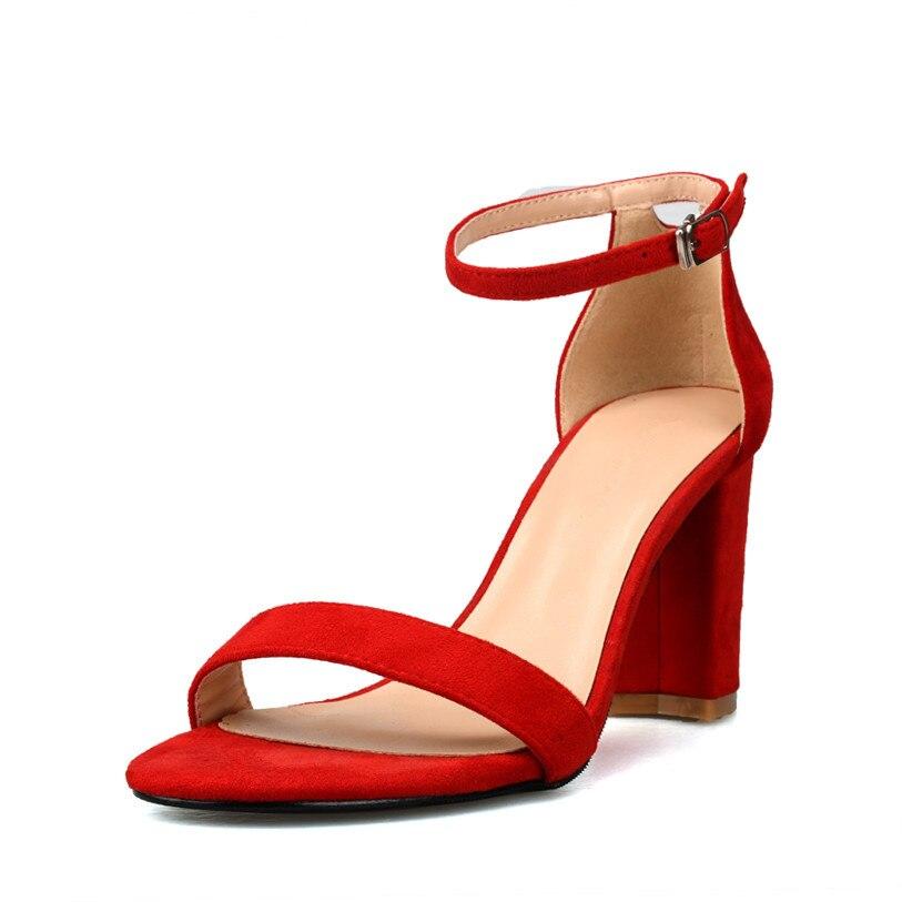 9cfea6b5 Mujeres Hebilla Sexy Zapatos Tacón naranja Beige Tobillo Damas negro Correa  Las Verano Alto Mujer Fiesta Sandalias 2018 ...