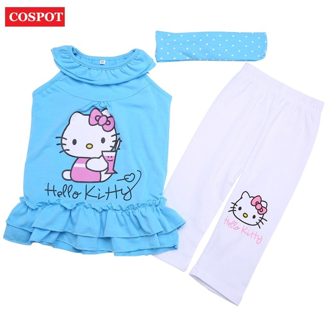 59fa27911 COSPOT Baby Girls Hello Kitty Clothing Set Girl s Headband+Dress+ ...