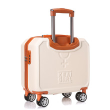 Small universal wheels travel luggage bag female 16 trolley luggage mini password box,korea fashion style vintage trolley bags