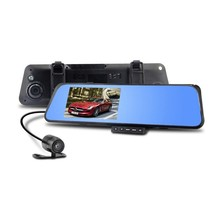 """Low price 4.3"""" TFT DVR Dual Lens G-Sensor Video Camera functions 3 in1 Rearview mirror & front camera DVR & rear view camera"""