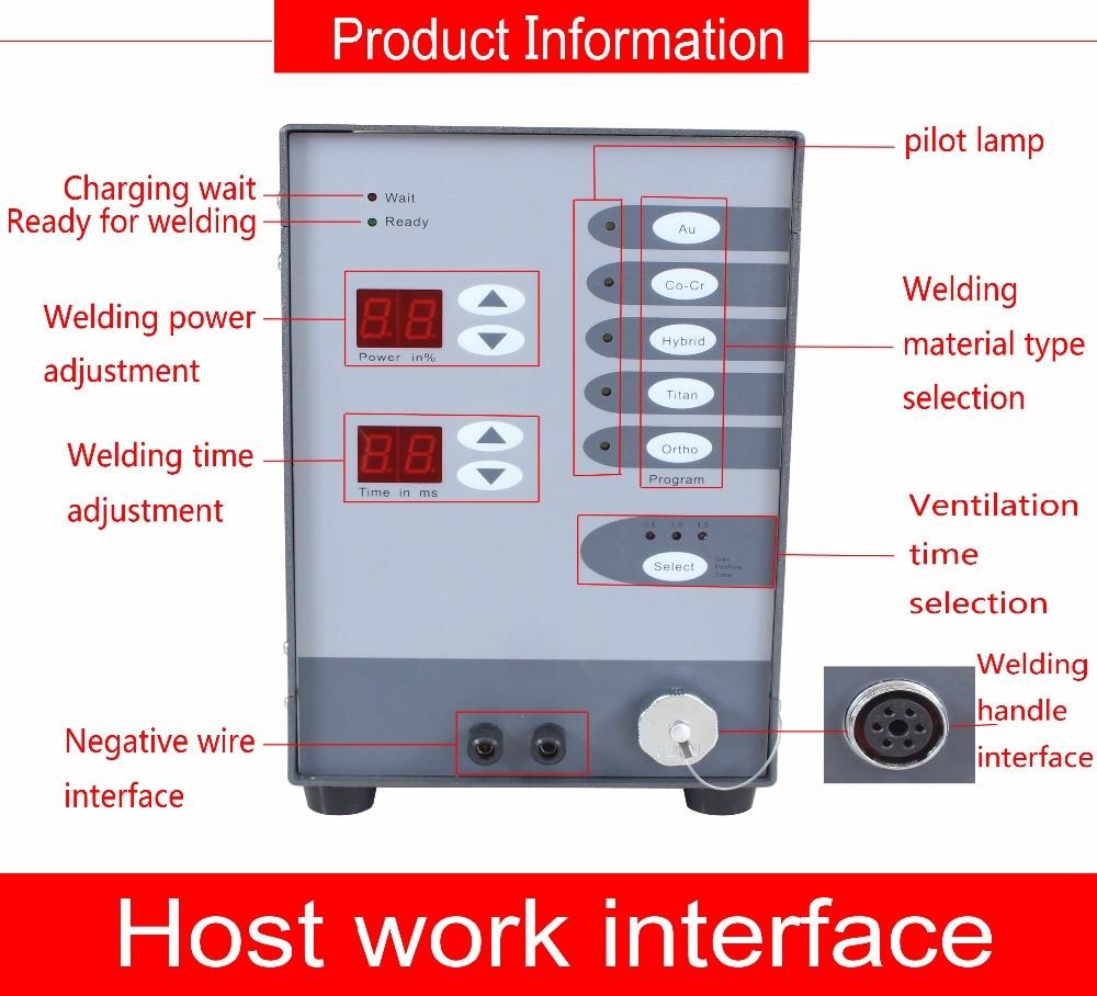 Soudeuse automatique d'arc d'argon d'impulsion de contact de commande numérique de Machine de soudure de Laser de tache d'acier inoxydable de 220 V pour souder des bijoux