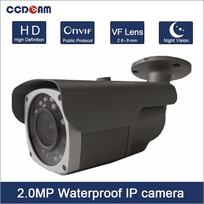CCDCAM <font><b>SONY</b></font> <font><b>IMX323</b></font> 1080P Outdoor <font><b>IP</b></font> Camera 40M IR Distance Night Vision <font><b>IP</b></font> Camera 2.8-12mm VF Lens image