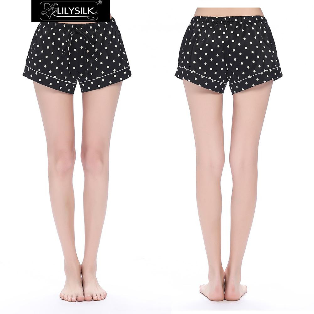 black-19-momme-silk-pajamas-short-with-polka-dot-print-01