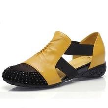 Women Sandals Female Rhinestone Cutout Elevator Fashion Patchwork Spring Summer Sandal Sapato Feminino Plus Size Shoes 40 - 41