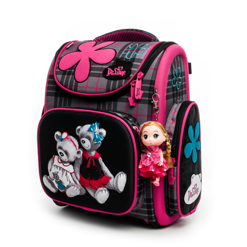Children School Bags Boys girls Orthopedic Kindergarten Backpack baby Cartoon Toddler Schoolbags Kids Satchel Mochila Infantil nohoo toddler kids backpack 3d rocket space cartoon pre school bags children school backpacks kindergarten kids bags mochila