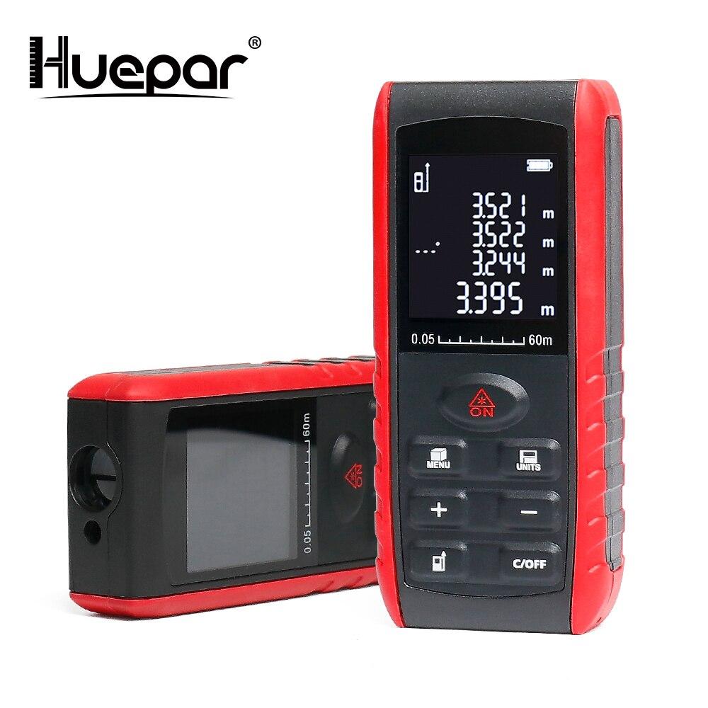 Huepar Laser-entfernungsmesser Medidor Trena Handheld Laser-distanzmessgerät 40 mt 60 mt 80 mt 100 M Reichweite Finder Diastimeter maßband