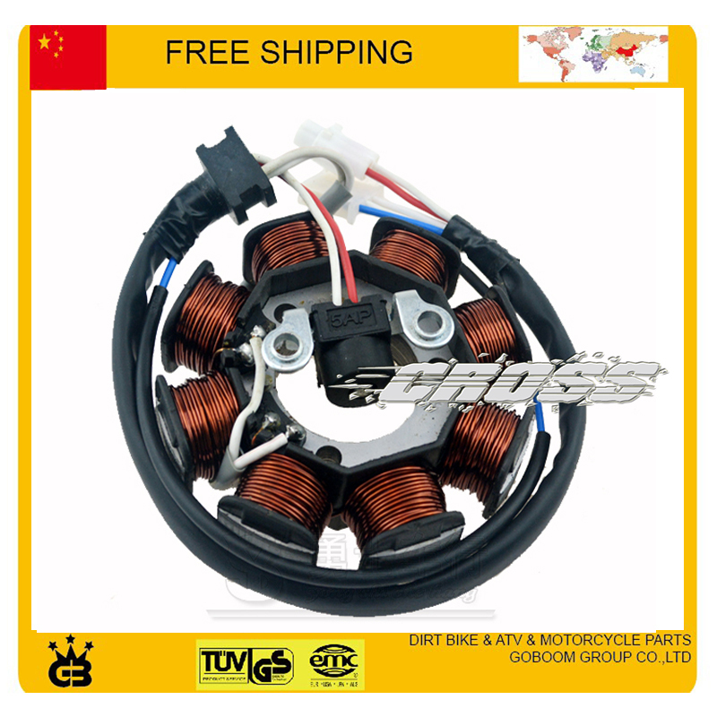 ФОТО magneto coil 125cc accessories motorcycle stator YBR 125 12V 8coils Euro II  part free shipping