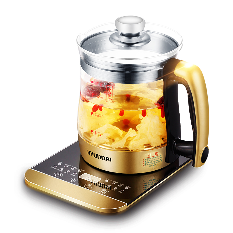 16 Kinds of Functions Health Pot Automatic Thickening Glass Health Kettle Make Sweet Soup Tea Porridge Electric Kettle 110-240V electric stew pot white porcelain slow cooker ceramic soup porridge rice pot automatic power off when lack water cute design