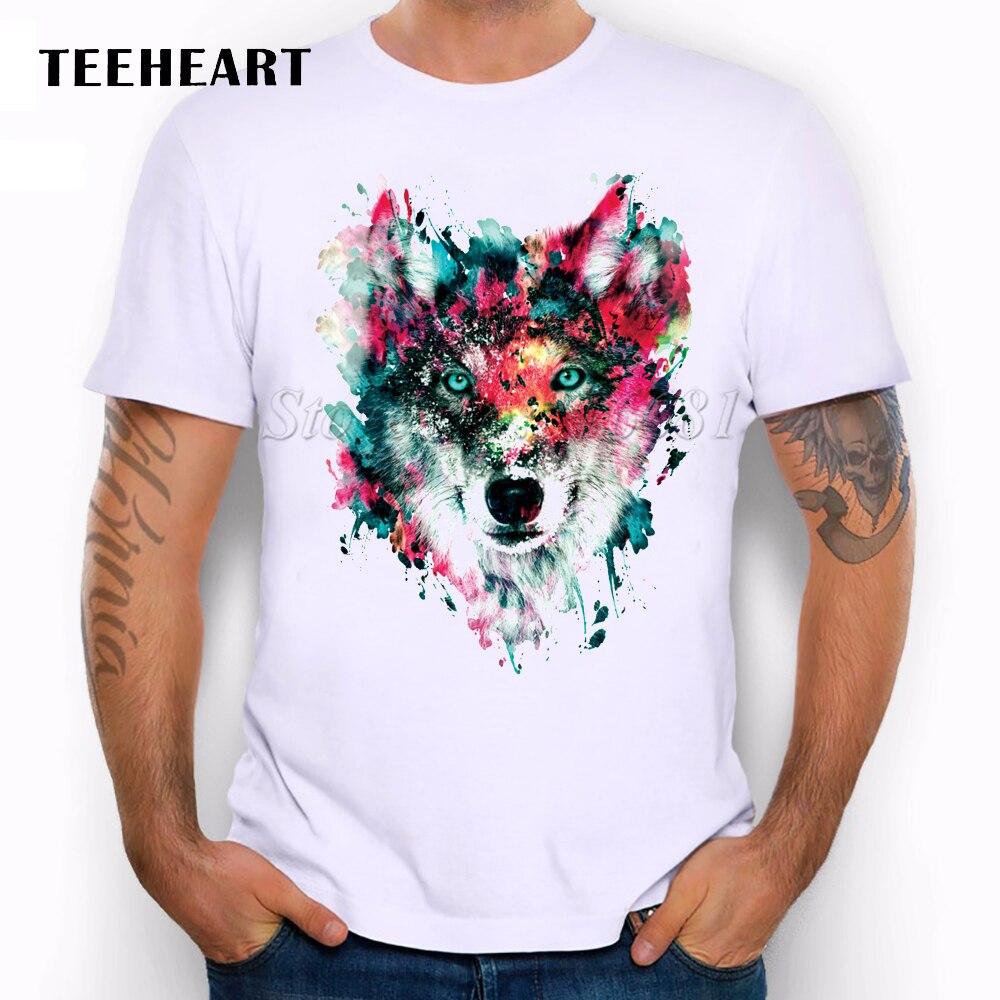 New 2016 Summer Custom Lion Owl Wolf Tiger Cat Design T