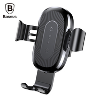 Baseus Wireless Fast Charger Gravity Car Mount For IPhone X 8 8Plus QI Wireless Charger Holder