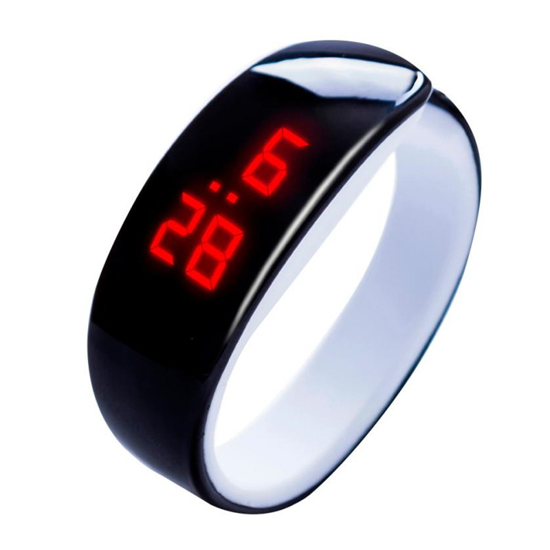 LED Digital Watch Electronic Wristwatches Display Bracelet Watch Children's Students Silica Gel Sports Watch relogio masculino new fashion silica gel electronic digital touch screen led watch