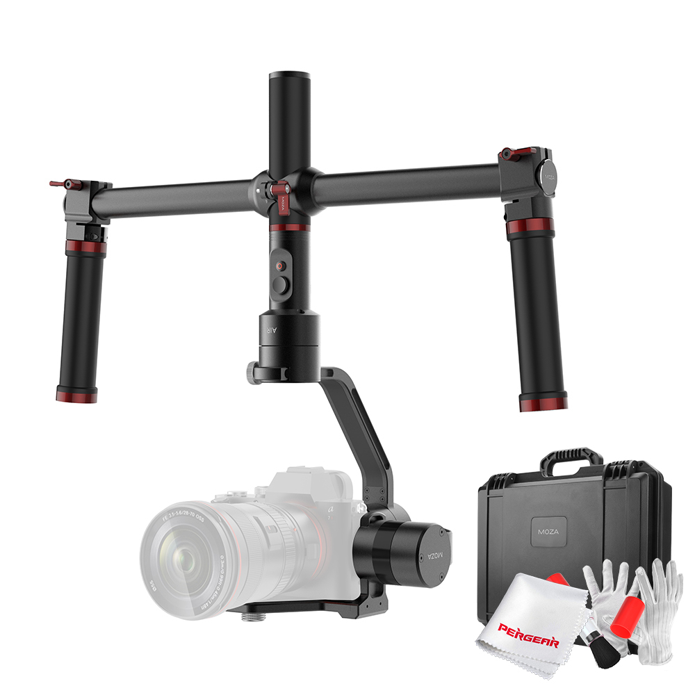 MOZA Air 3 Axis Handheld Gimbal Stabilizer with Dual Handheld Grip 3 Axis 360 Degree Unlimited Rotation for Sony A7 GH5 GH4 5D yuneec q500 typhoon quadcopter handheld cgo steadygrip gimbal black