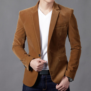 30b42647a9cc New Fashion Men's Casual Slim Stripped Corduroy Blazer Coat,Small Jacket  For Men Spring Autumn,4 Colors,Size M-XXXL,2152