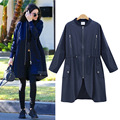 2016 Autumn women's loose casual Trench Coat high quality New Arrivals Women clothing Fashion Slim coats large size