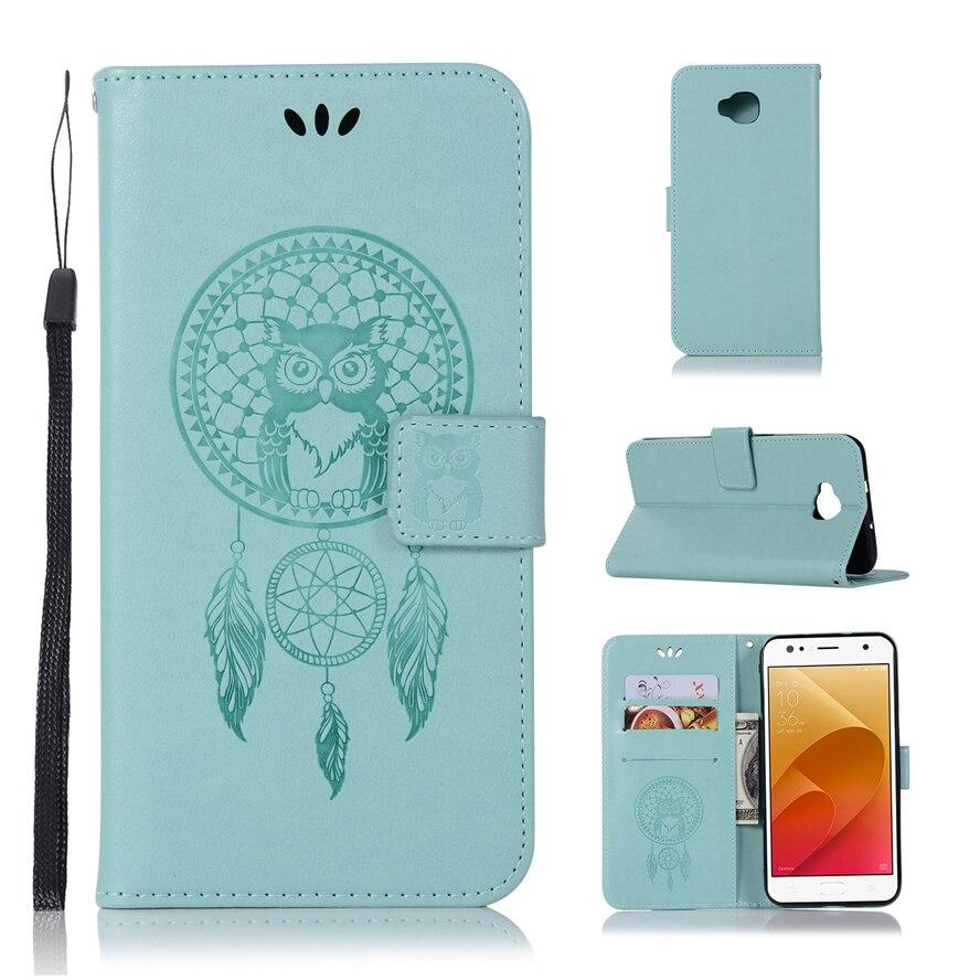 3D Pattern Owl For Asus Zenfone 4 Selfie ZD553KL Phone Case For Zenfone 4 Selfie ZD553KL Leather Mobile Shell Wallet Flip Cover