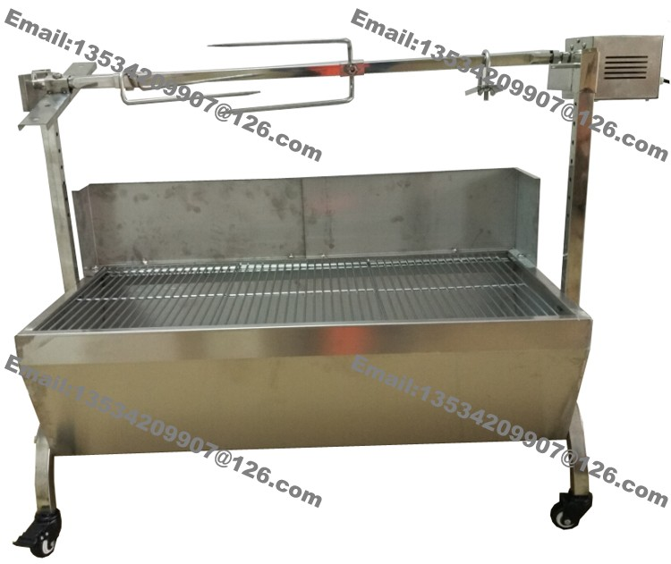89cm Large 60kg Bbq Stainless Steel Charcoal Pig Spit