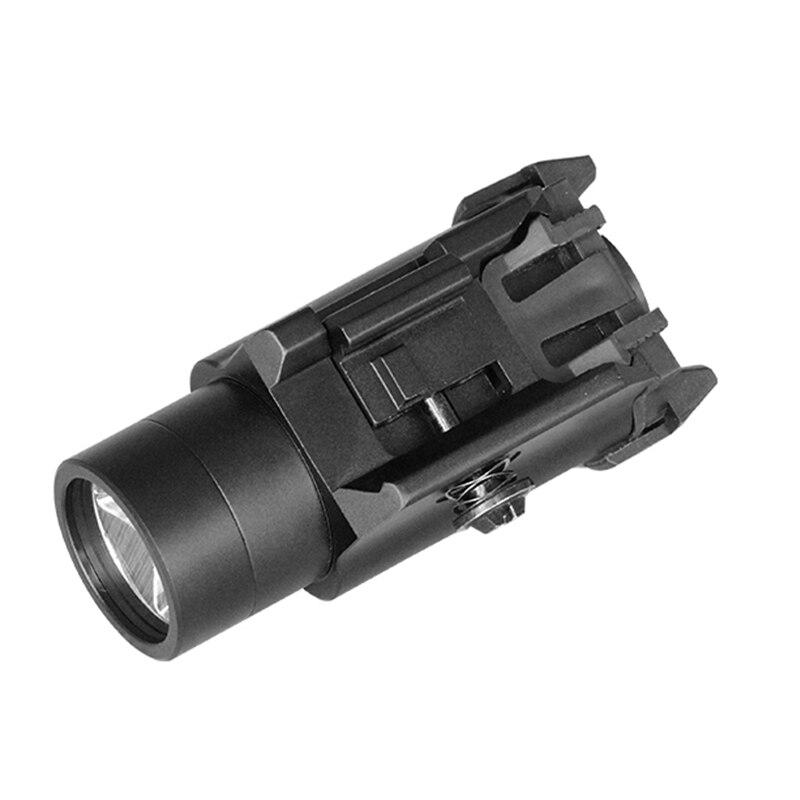 Airsoft Mini pistolet lumière pistolet de poche lampe de poche LED fusil pistolet torche tactique pour 20mm Picatinny Rail Weaver Glock 17 19 18C 24