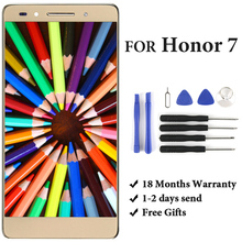 For Huawei Honor 7 PLK-TL01H PLK-L01 LCD Display With Frame PLK-UL00 PLK-AL10 Touch Screen Digitizer Assembly Replacement Parts black 100% new full lcd display touch screen digitizer assembly for huawei ascend honor 7 plk tl01h plk ul00 free shipping