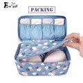 Nova embalagem caixa de armazenamento de roupas organizador sutiã cueca à prova d' água maquiagem make up organizer cosméticos viajar sacos de armazenamento de pano
