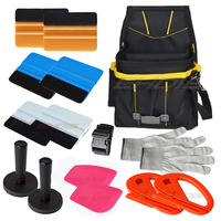 14PCS Professional Car Vinyl Wrap Felt Squeegee Tools Kit Bag Knife Glove Magnet Car Tint Film
