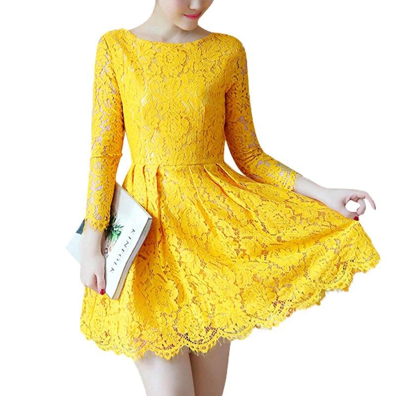 New teenage maniche lunghe In Pizzo principessa dress womans più il vestito size autunno partito per la ragazza abito Donna big Size S-4XL
