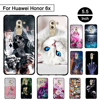 For Huawei Honor 6x Case Soft Silicone Back Black Cover for Huawei Honor 6 X GR5 2017 TPU Phone Cases For Huawei Mate 9 Lite Bag