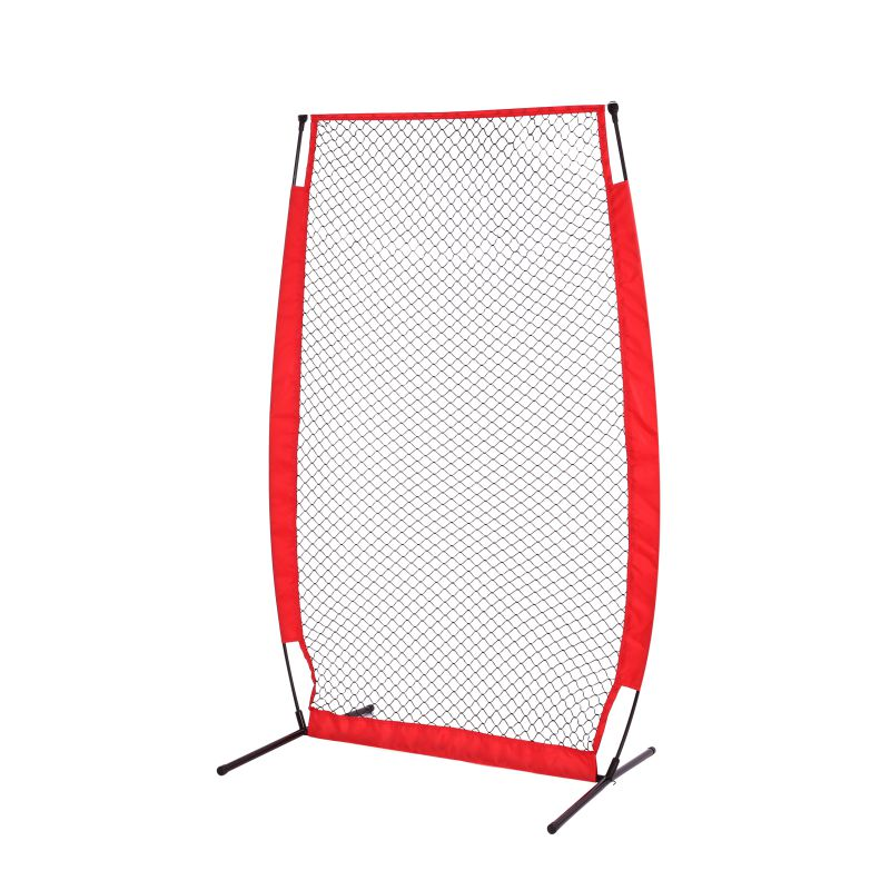 High Quality Baseball Practice Net Softball Practice Net with Bow Frame Strike Zone Target Compact Carrying Bag Outdoor Sports