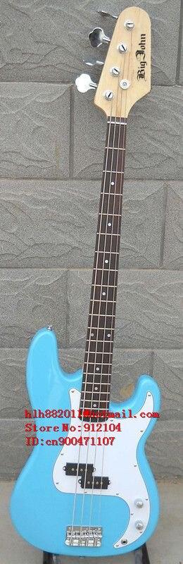 free shipping new Big John 4 strings electric bass guitar in blue F-159free shipping new Big John 4 strings electric bass guitar in blue F-159
