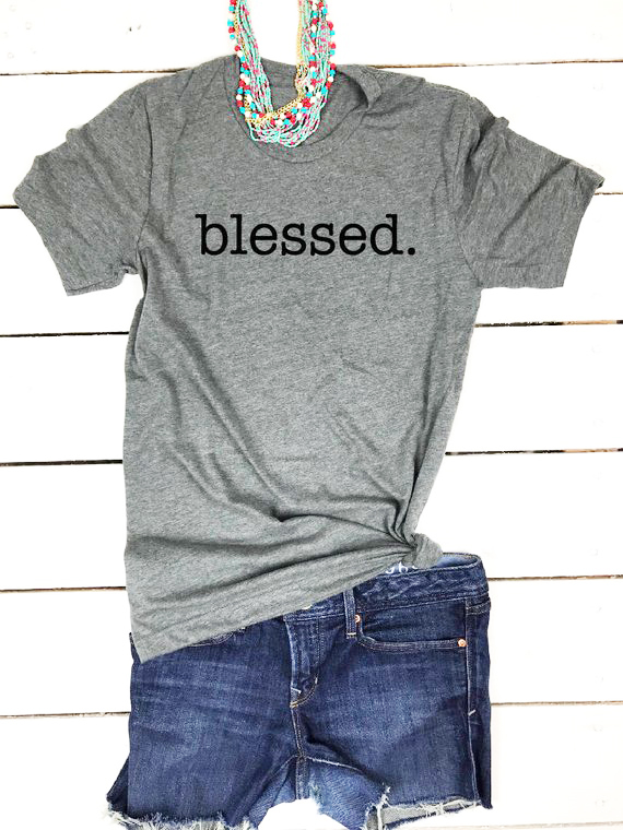 ea3a67d4ee36 Fall Thankful shirt for women Blessed Mama Christian gift for lover family  unisex slogan t-