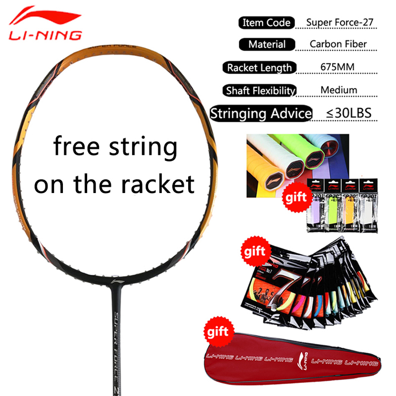 Li Ning Professional Badminton Rackets Carbon High Quality Li Ning Badminton Sports Racquet LiNing Sports Single Racket AYPM222-in Badminton Rackets from Sports & Entertainment